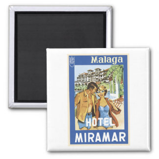 Malaga Hotel Miramar Square Magnet