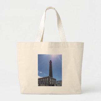 Malaga Lighthouse Large Tote Bag