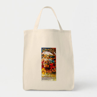 Malaga Spain ~ Vintage Automobile Advertisement Grocery Tote Bag