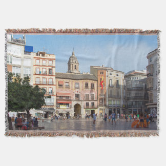 Malaga. View of the city. Throw Blanket