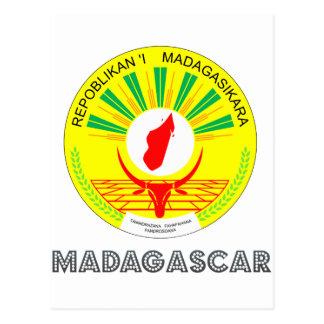 Malagasy Emblem Postcard