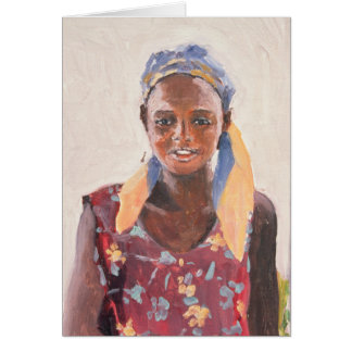 Malagasy Girl 1989 Greeting Card