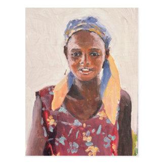 Malagasy Girl 1989 Postcard