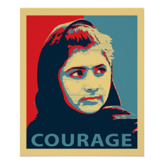 Malala Yousafzai - A Picture of Courage Print