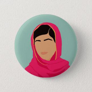 Malala Yousafzai Feminist Pin Button