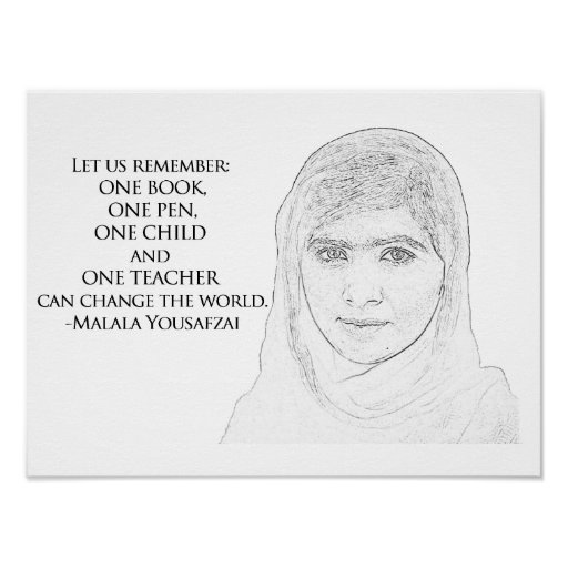 Malala Yousafzai Poster
