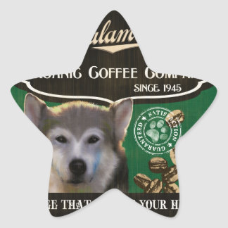 Malamute Brand – Organic Coffee Company Star Sticker
