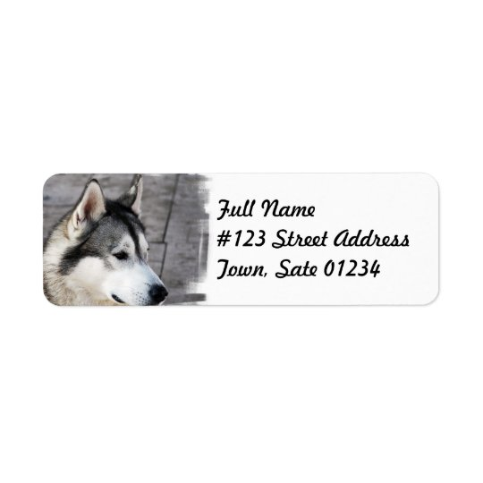 Malamute Dog Mailing Label Return Address Label