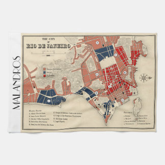 Malandros Rio map tea towel