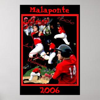 Malaponte Freshman Baseball Poster