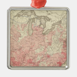 Malarial Deaths, Statistical US Lithograph Christmas Ornament