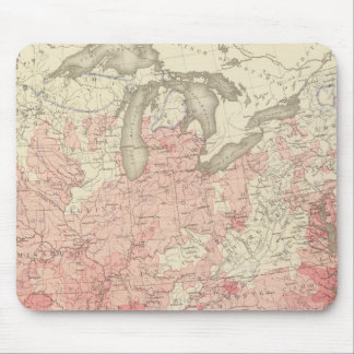 Malarial Deaths, Statistical US Lithograph Mouse Pad