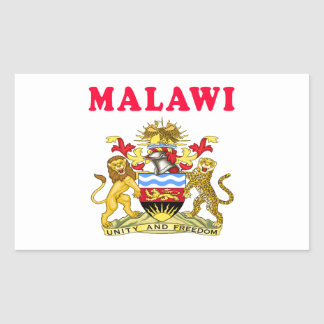 Malawi Coat Of Arms Designs Rectangular Sticker