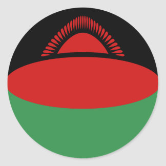Malawi Fisheye Flag Sticker