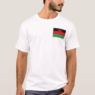 Malawi Flag and Map T-Shirt