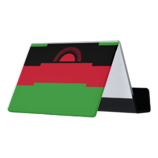 Malawi Flag Desk Business Card Holder
