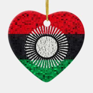 Malawi Flag glitter ornament
