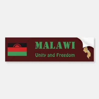 Malawi Flag + Map Bumper Sticker