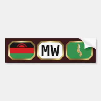 Malawi Flag Map Code Bumper Sticker
