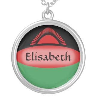 Malawi Flag + Name Necklace