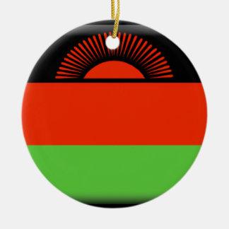 Malawi Flag Round Ceramic Decoration