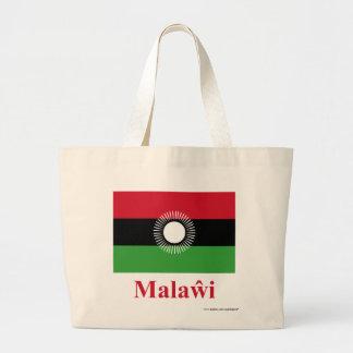 Malawi Flag with Name in Chewa Jumbo Tote Bag