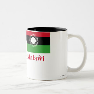Malawi Flag with Name in Chewa Two-Tone Coffee Mug