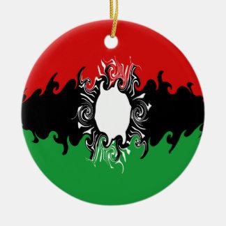 Malawi Gnarly Flag Christmas Tree Ornaments