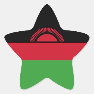 Malawi/Malawian Flag Star Sticker