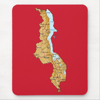 Malawi Map Mousepad