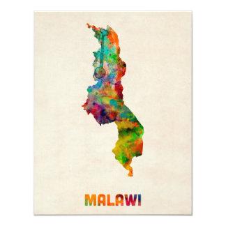 Malawi Watercolor Map Card