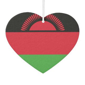 Malawian flag car air freshener
