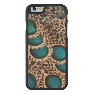 Malay Peacock-pheasant feathers Carved® Maple iPhone 6 Case