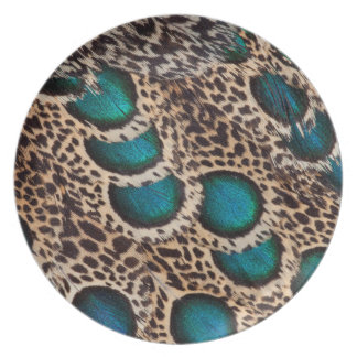 Malay Peacock-pheasant feathers Dinner Plates