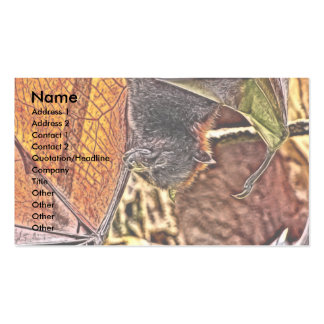 Malayan Flying Fox Giant Bat Painting Business Card Template