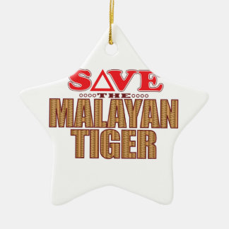 Malayan Tiger Save Ceramic Star Decoration