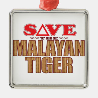 Malayan Tiger Save Christmas Ornament