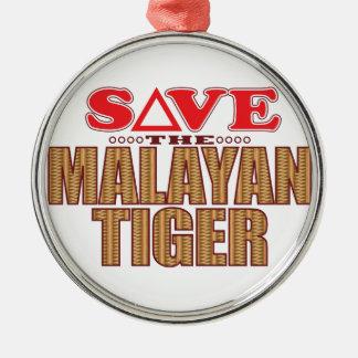 Malayan Tiger Save Christmas Ornament