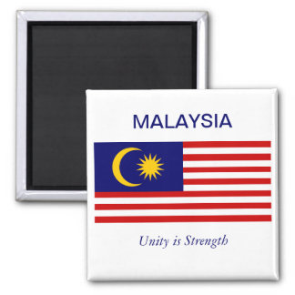 Malayasian Flag Square Magnet