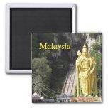 Malaysia Batu Caves Statue Magnet