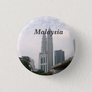 Malaysia Cityscape 3 Cm Round Badge