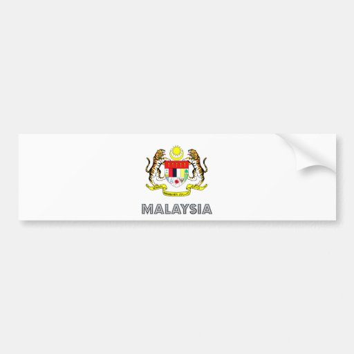 Malaysia Coat of Arms Bumper Stickers
