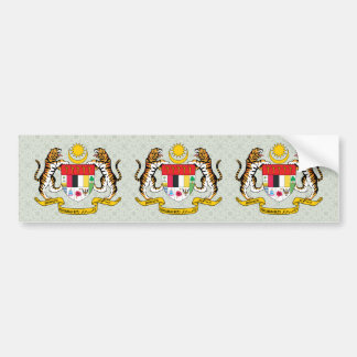 Malaysia Coat of Arms detail Bumper Stickers
