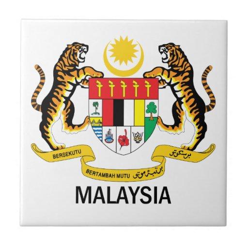 Malaysia Emblem Flag Symbol Coat Of Arms Ceramic Tiles