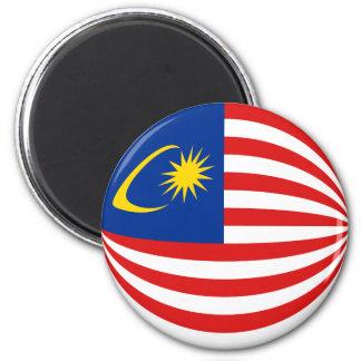 Malaysia Fisheye Flag Magnet