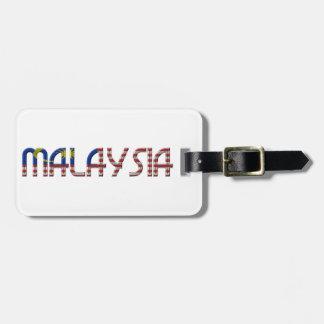 Malaysia Flag Colors Typography Bag Tag
