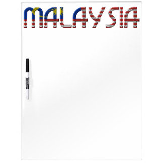 Malaysia Flag Colors Typography Southeast Asia Dry Erase Board