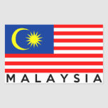 malaysia flag country text name rectangle stickers