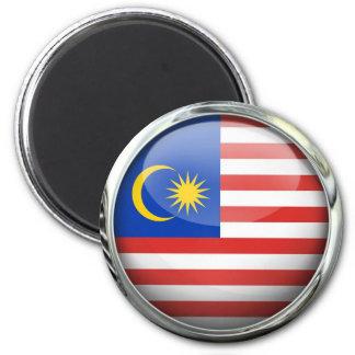 Malaysia Flag Glass Ball Magnet