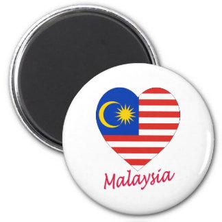 Malaysia Flag Heart Magnet